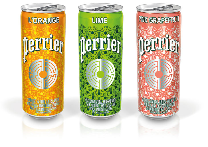 Cans Perrier 3D